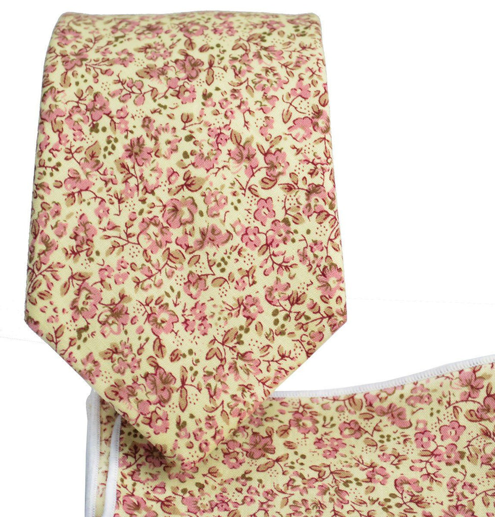 Cashmere Rose Cotton Tie Set by Paul Malone Paul Malone Ties - Paul Malone.com