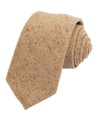 Rugby Tan Wool Necktie Paul Malone Ties - Paul Malone.com