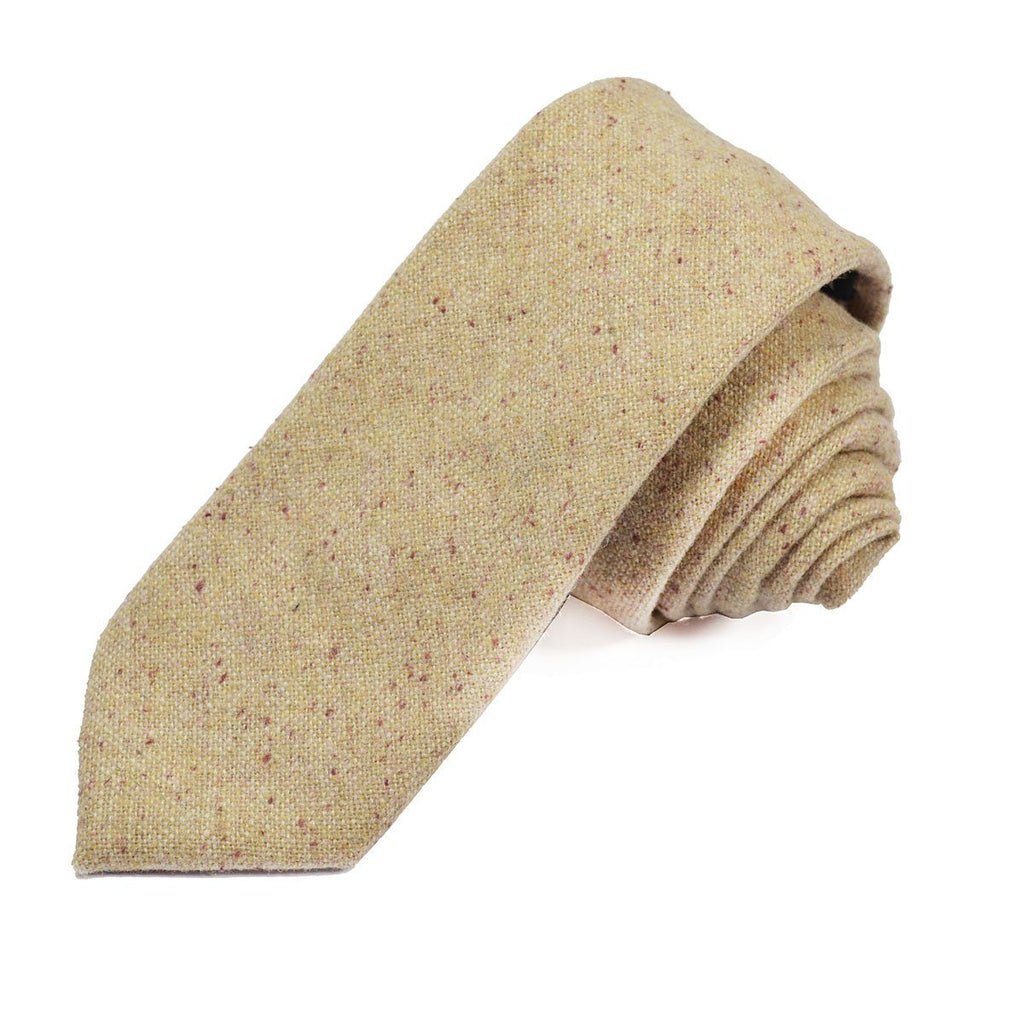 Bleached Sand Wool Tie Set by Paul Malone Ties Paul Malone