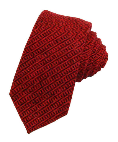 Bossa Nova Red Wool Necktie Paul Malone Ties - Paul Malone.com