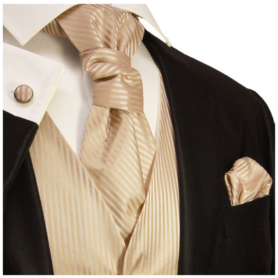 Espresso Striped Tuxedo Vest Set Paul Malone Vest - Paul Malone.com