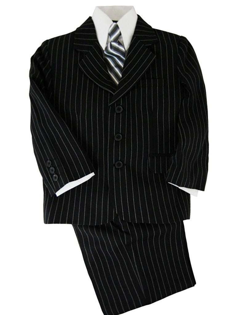 Black and White Striped Boys Suit with Vest Van Gogh Suits - Paul Malone.com
