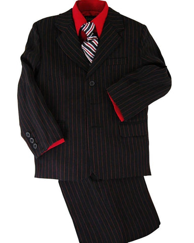 Coral Formal Boys Paisley Tuxedo Vest Set