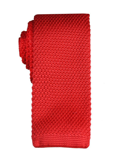 True Red Knit Tie by Paul Malone Paul Malone Ties - Paul Malone.com