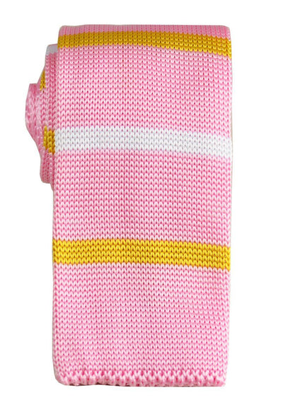 Pink Striped Knit Tie by Paul Malone Paul Malone Ties - Paul Malone.com