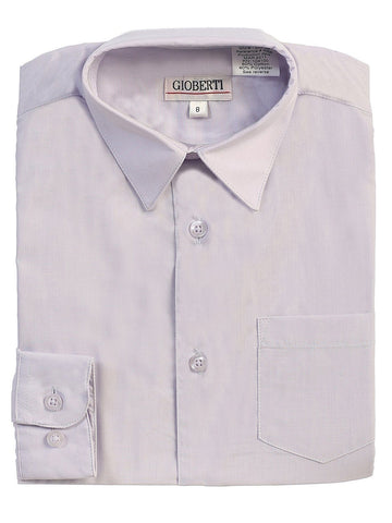Classic Green Boys Dress Shirt