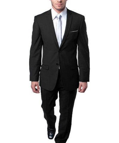 Ultra Slim Black Men's Suit Tazio Suits - Paul Malone.com