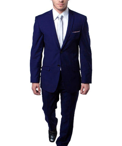 Ultra Slim dark Navy Men's Suit Tazio Suits - Paul Malone.com