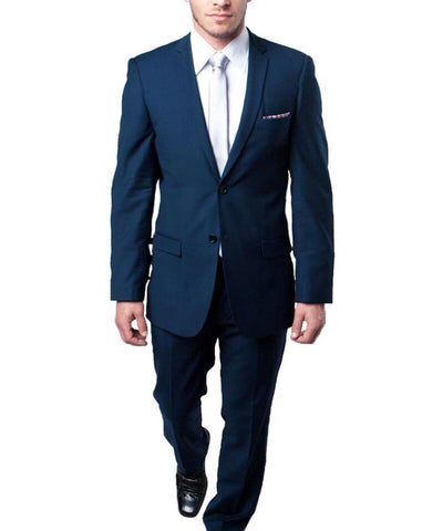 Ultra Slim Indigo Blue Men's Suit Tazio Suits - Paul Malone.com