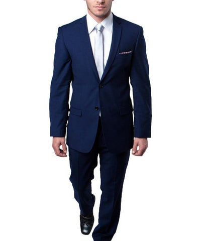 Ultra Slim Navy Blue Men's Suit Tazio Suits - Paul Malone.com