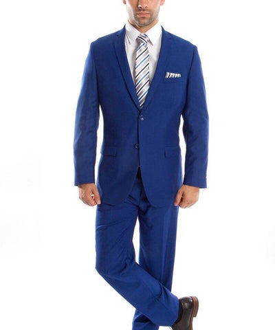 Ultra Slim Royal Blue Men's Suit Tazio Suits - Paul Malone.com