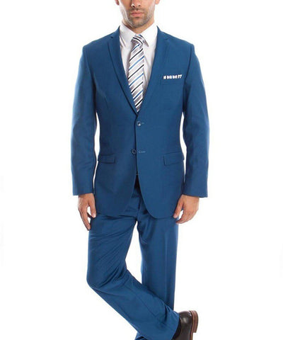 Ultra Slim French Blue Men's Suit Tazio Suits - Paul Malone.com
