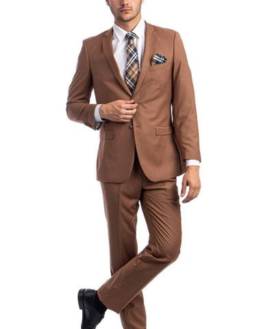 Ultra Slim Caramel Men's Suit Tazio Suits - Paul Malone.com