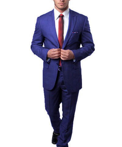 Blue on Blue Ultra Slim Men's Suit Tazio Suits - Paul Malone.com