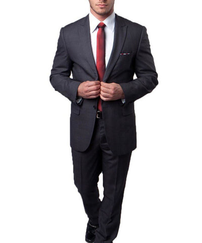 Grey on Grey Ultra Slim Men's Suit Tazio Suits - Paul Malone.com