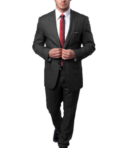 Black on Black Ultra Slim Men's Suit Tazio Suits - Paul Malone.com