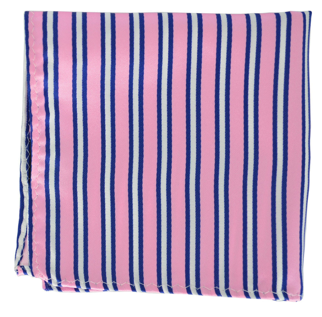 Extra Long Pink and Navy Striped Tie BerlinBound Ties - Paul Malone.com