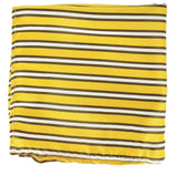 Extra Long Yellow, Brown and White Striped Tie BerlinBound Ties - Paul Malone.com