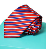 Extra Long Red, White and Blue Striped Tie BerlinBound Ties - Paul Malone.com