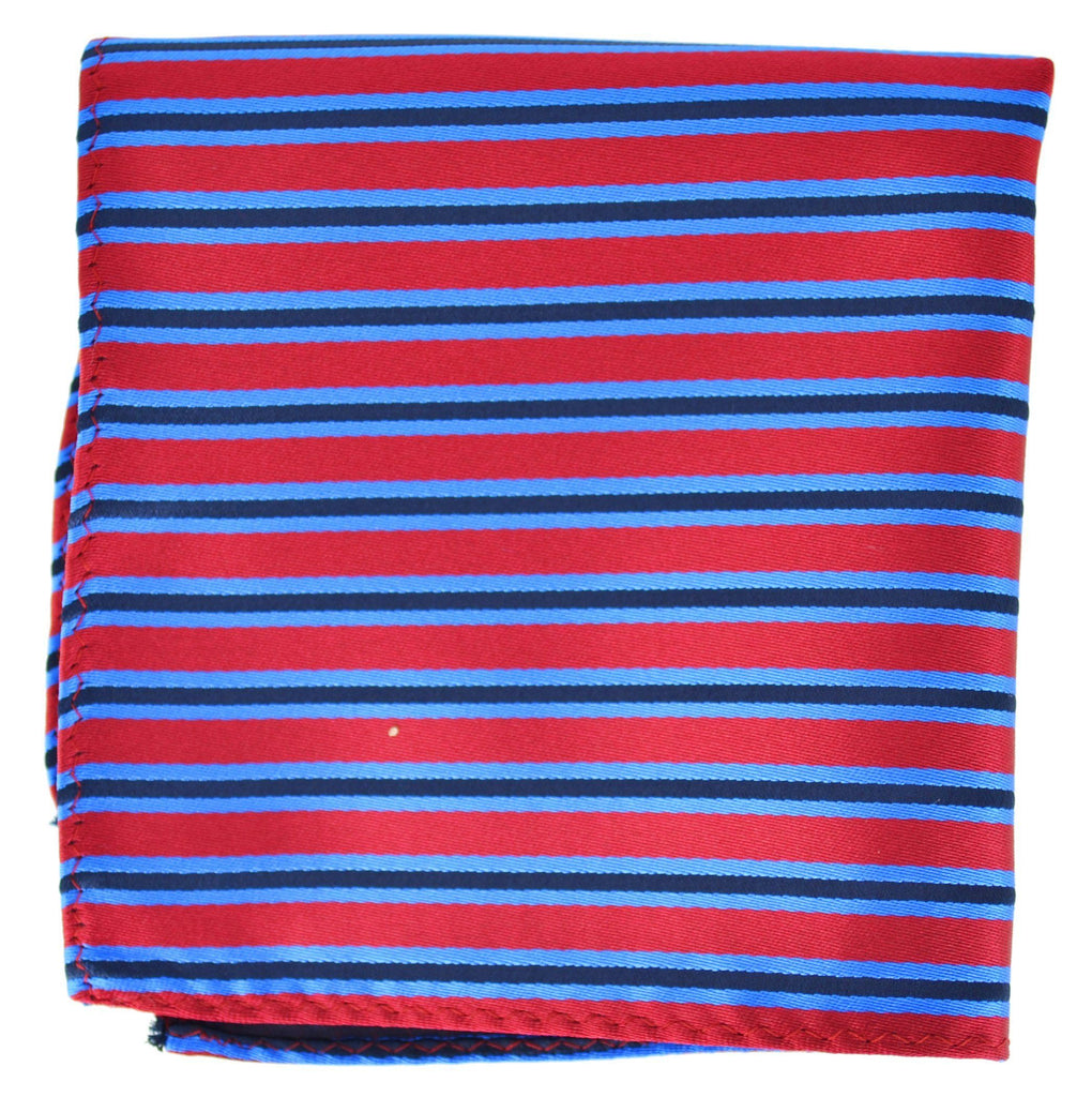Extra Long Red, Blue and Black Striped Tie BerlinBound Ties - Paul Malone.com