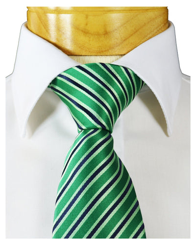 Extra Long Green and Black Striped Tie BerlinBound Ties - Paul Malone.com