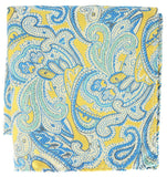 Extra Long Yellow and Turquoise Paisley Men's Tie BerlinBound Ties - Paul Malone.com