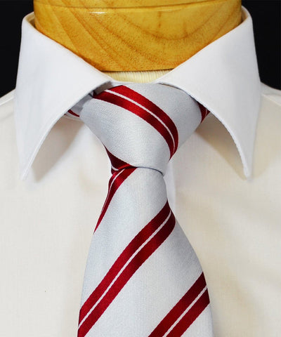 Extra Long Striped Red and White Men's Tie BerlinBound Ties - Paul Malone.com