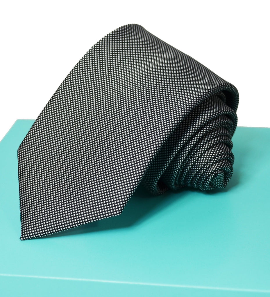 Extra Long Black and White Men's Tie BerlinBound Ties - Paul Malone.com