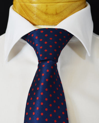 Extra Long Navy, Blue and Red Plaid Men's Tie