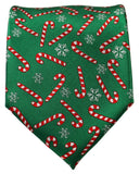 Green and Red Candy Cane Holiday Tie Paul Malone Ties - Paul Malone.com