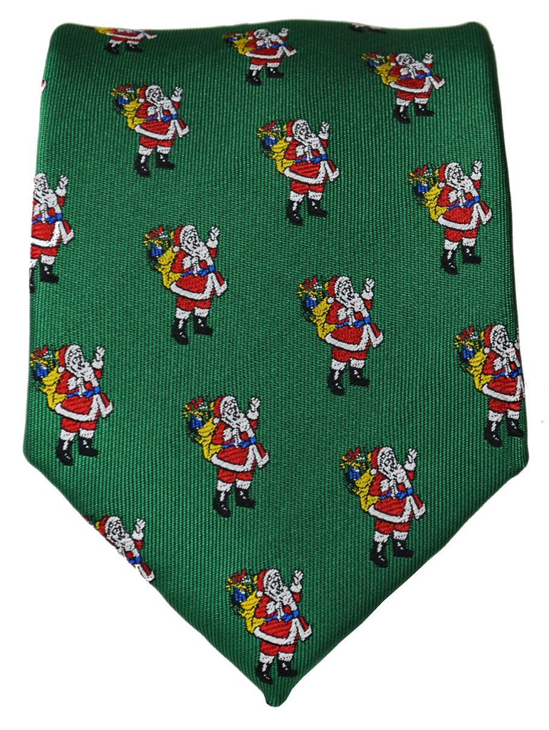Green Paul Malone Santa Claus Holiday Tie Ties Paul Malone