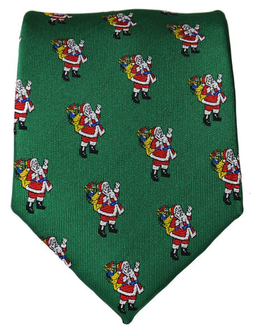 Royal Blue on Red Merry Christmas Tie