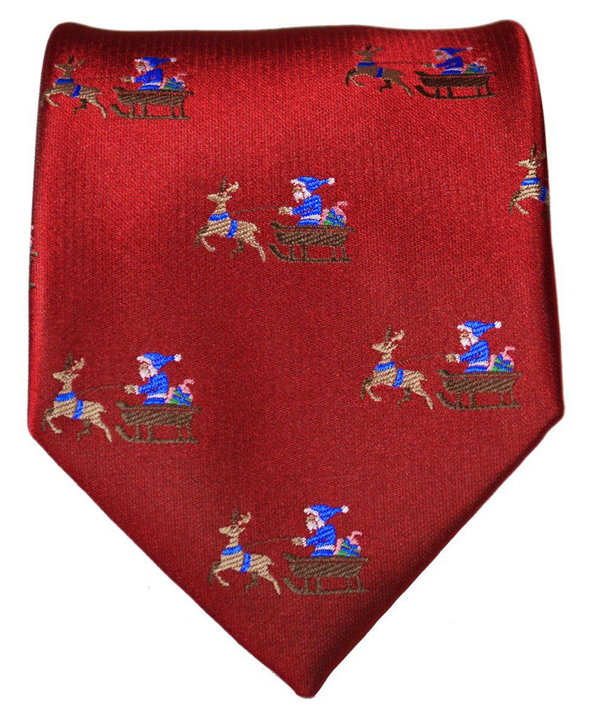 True Red Reindeer Holiday Tie