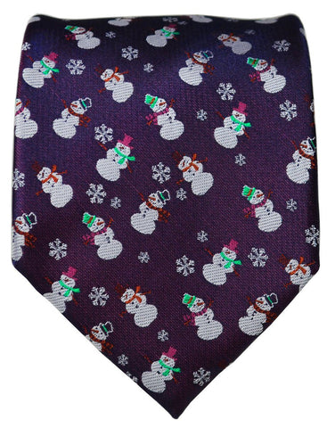 Navy Blue Reindeer Holiday Tie