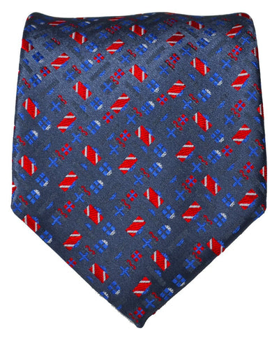 Stonewash Paul Malone Present Holiday Tie Paul Malone Ties - Paul Malone.com