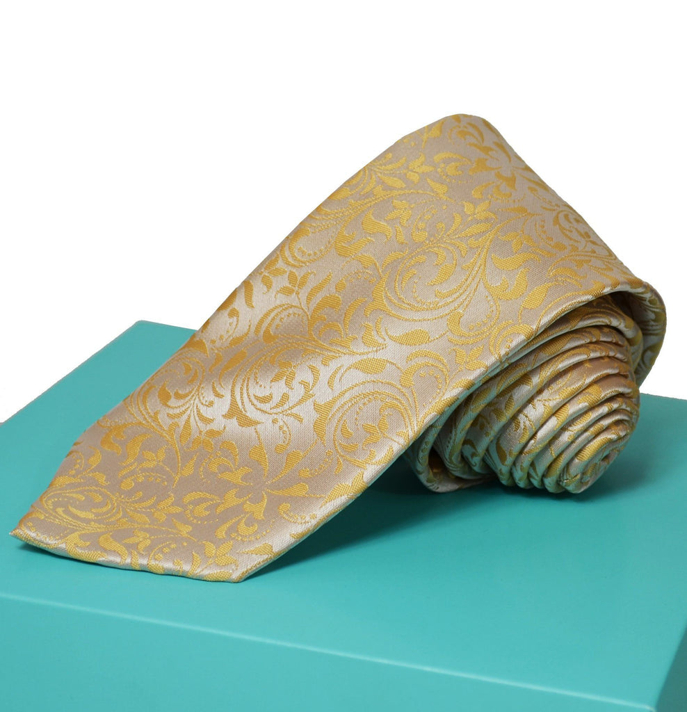 Extra Long Golden Glow Vines Men's Tie BerlinBound Ties - Paul Malone.com