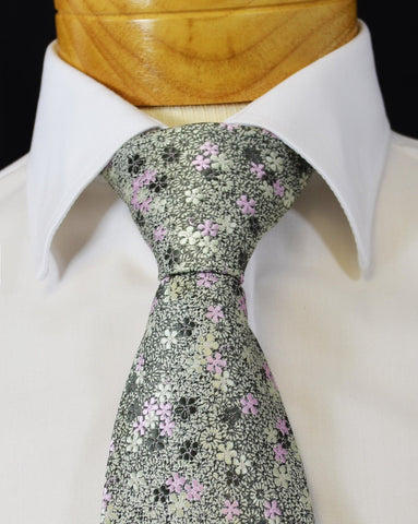 Blue Moon Paisley Silk Tie and Pocket Square by Paul Malone