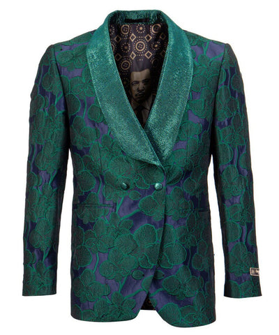 Green Floral Empire Blazer Empire Suits - Paul Malone.com