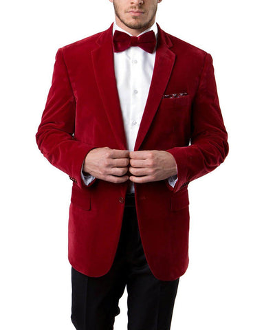 2-Button Men's Velvet Jacket Tazio Suits - Paul Malone.com