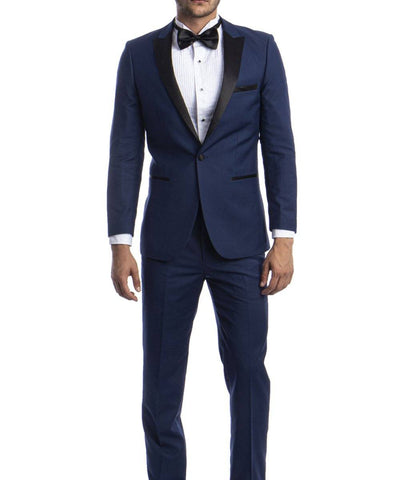 Exciting Slim Cut Men's Tuxedo Suit Bryan Michaels Suits - Paul Malone.com