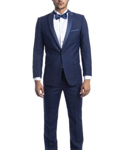 Cobalt Blue Slim Men's Tuxedo Suit Bryan Michaels Suits - Paul Malone.com