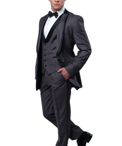 3 piece Slim Cut Formal Tuxedo Bryan Michaels Suits - Paul Malone.com