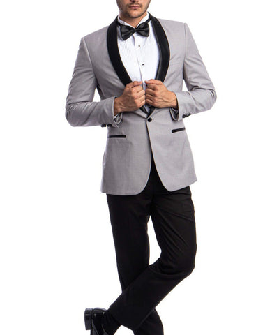 Fashionable Slim Fit Tuxedo Suit Azzuro Suits - Paul Malone.com