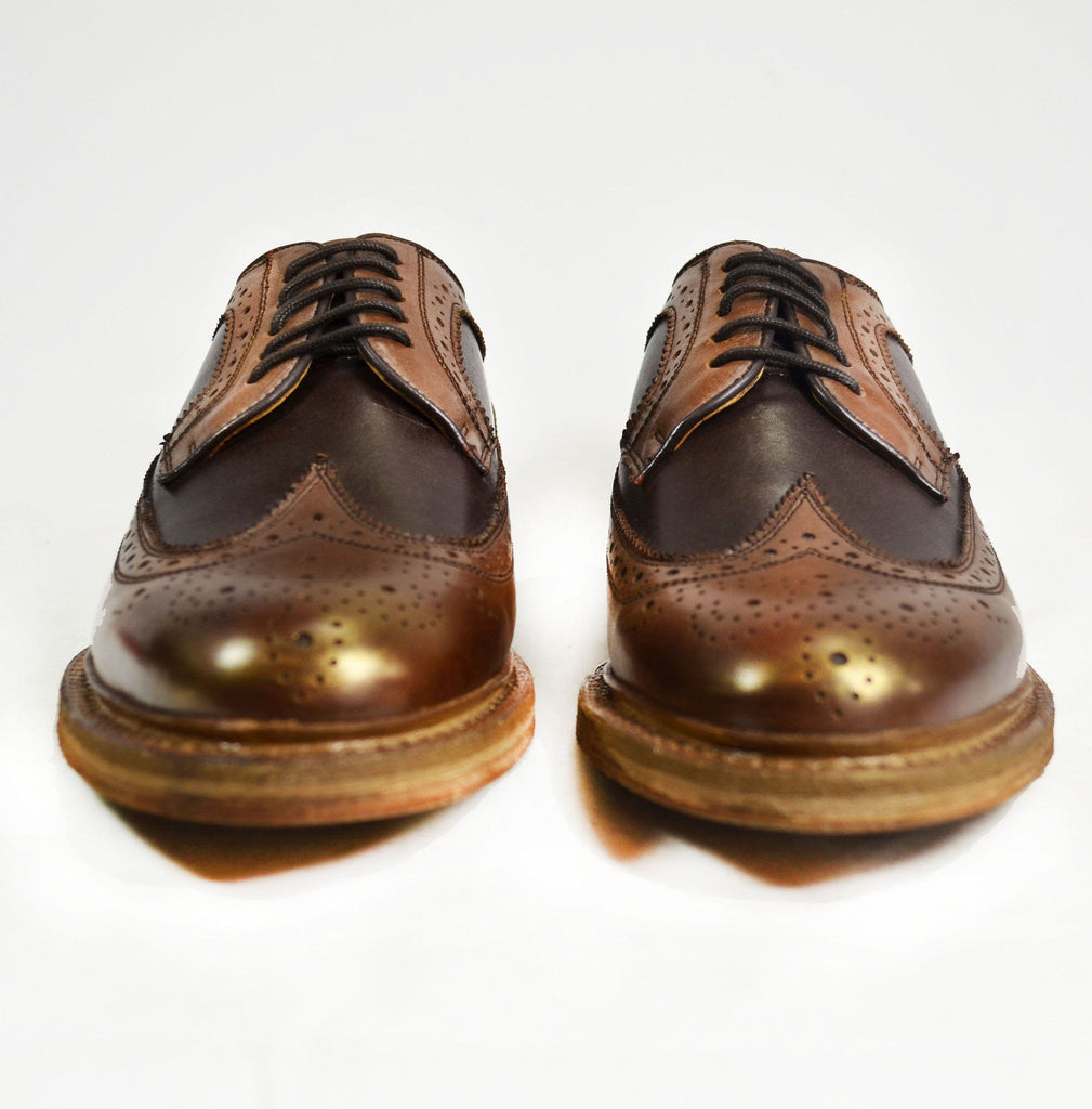 MALDON Tobacco Brown Full Brogue Leather Oxfords Paul Malone Shoes - Paul Malone.com