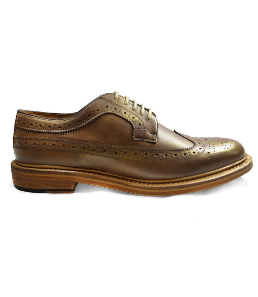 MALDON Gold Full Brogue Leather Oxford Dress Shoes Paul Malone Shoes - Paul Malone.com