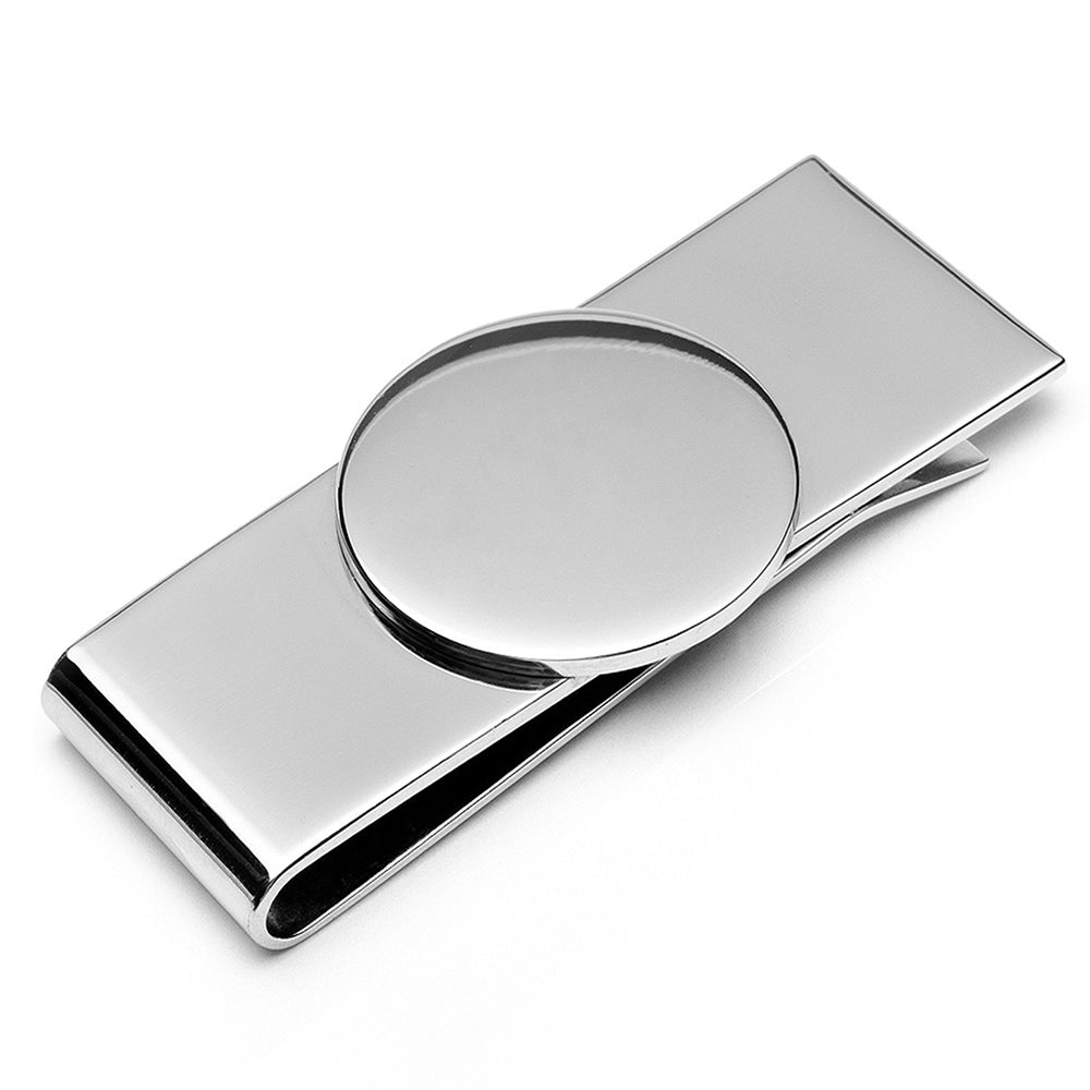 Stainless Steel Engravable Money Clip Ox & Bull Money Clip - Paul Malone.com