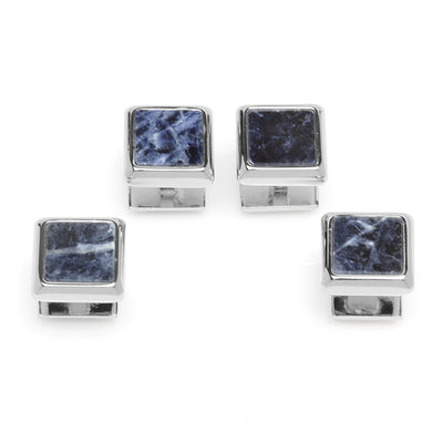 Silver and Sodalite JFK Presidential Studs Ox and Bull Trading Co. Studs - Paul Malone.com