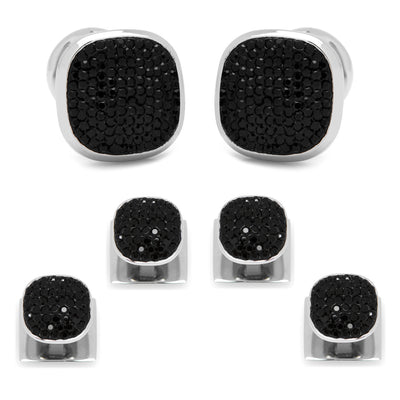 Stainless Steel Black Pave Crystal Stud Set Ox and Bull Trading Co. Stud Set - Paul Malone.com