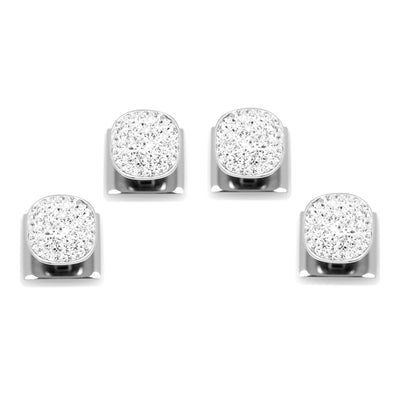 White Pave Crystal Studs Ox and Bull Trading Co. Studs - Paul Malone.com