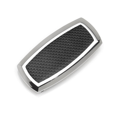 Stainless Steel Inlaid Black Carbon Fiber Money Clip Ox and Bull Trading Co. Money Clip - Paul Malone.com